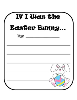 Opinion Writing About Easter with Lesson Plans
