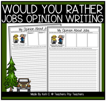 Opinion Writing and Graphing About Jobs