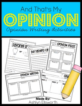 Opinion Writing Activities