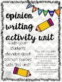Opinion Writing Activities