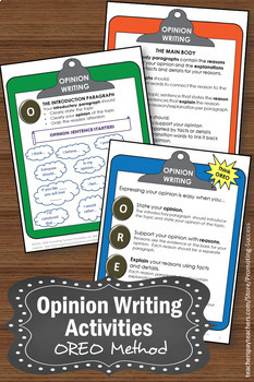 OREO Opinion Writing Prompts