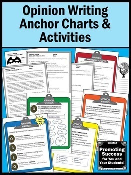 OREO Activity, Opinion Writing Prompts Graphic Organizers Anchor Charts Rubric