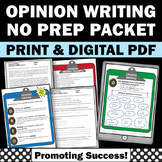 OREO Opinion Writing Prompts ELA Distance Learning Packet Digital Activities