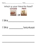 Opinion Writing Activities for Kindergarten and First Grade