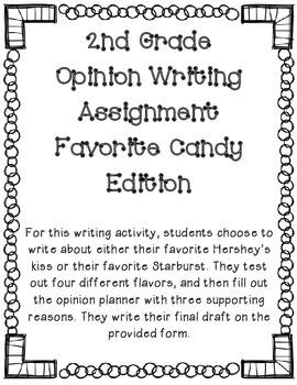 Opinion Writing Activity