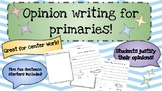 Opinion Writing Activity Sheets