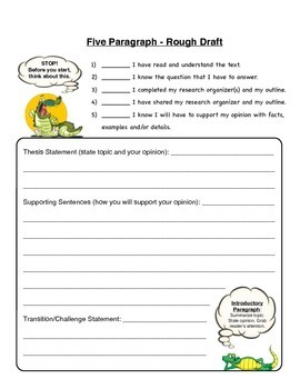Opinion Writing - Alligators in NYC Sewers?  (5 Paragraph Essay)