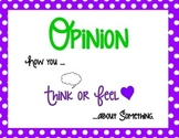Opinion Writing Anchor Poster