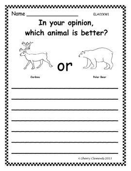 Polar Animals Opinion Writing