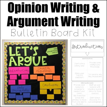 Opinion Writing & Argument Writing Bulletin Board Kit