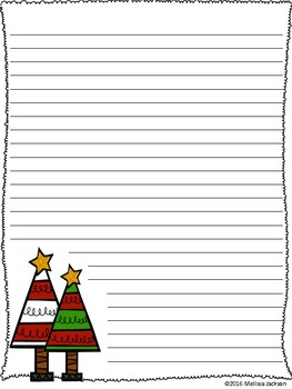 christmas tree writing paper