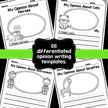 Opinion Writing {Assorted Themes}