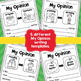 Opinion Writing {August and September Themes}
