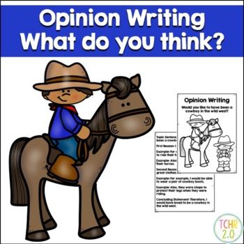 Opinion Writing Prompt Cowboys Texas