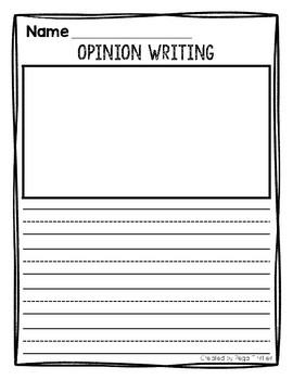 Opinion Writing Blank Paper