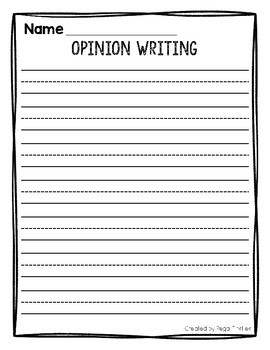 Opinion Writing Blank Paper FREEBIE