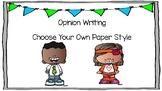 Opinion Writing Book