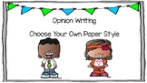 Opinion Writing Book