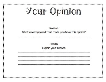Opinion Writing - Book Review