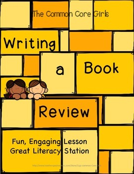Book Review Opinion Writing: Grades 2,3,4,5-Fun,Engaging, No Prep Lesson