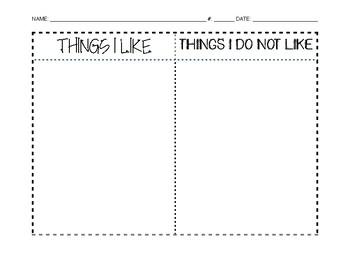 Opinion Writing Brainstorm