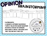 Opinion Writing Brainstorming Graphic Organizer