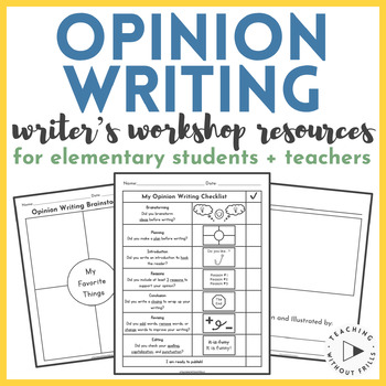 Opinion Writing Resources and Organizers for Elementary Students + Teachers