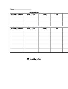 Opinion Writing Brainstorming Sheet