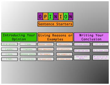 Opinion Writing Bulletin Board Display