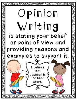 Opinion Writing Bulletin Board Set