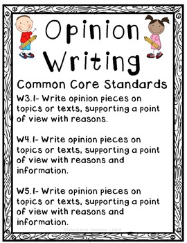 Opinion Writing Bulletin Board Set By Silvia Garay Sanchez