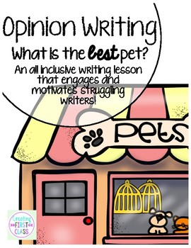 Opinion Writing & Bulletin Board: Standards Based & Flee Map Driven Pet Writing!