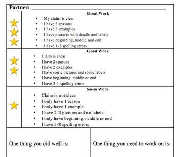 Opinion Writing Bundle - 1 Grade