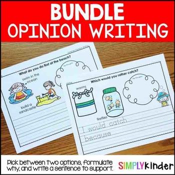 Kindergarten Opinion Writing Bundle