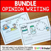 Kindergarten Opinion Writing Bundle