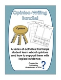 Opinion Writing Bundle: Activities to Help Students Form and Support Opinions
