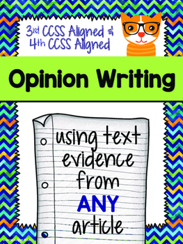 Opinion Writing CCSS Aligned (Grades 3-4)