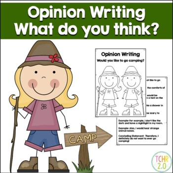 Opinion Writing Prompt Camping