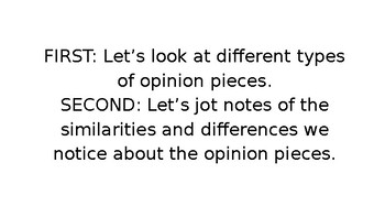 Opinion Writing - Changing the World Slides - Bend 3 and Bend 4