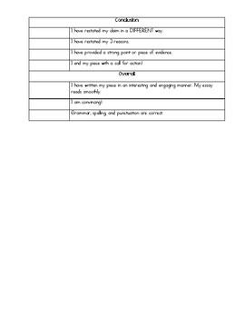 Opinion Writing Checklist!