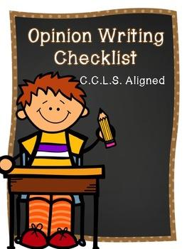 Opinion Writing Checklist FREEBIE