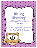 Opinion Writing Checklist