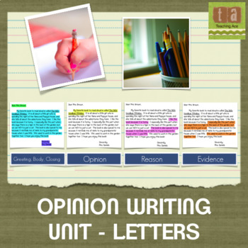 Opinion Writing Through Letters - Writing Workshop Paper Using Checklists