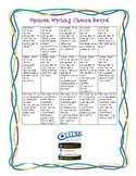 Opinion Writing Choice Board & Embedded Rubric Writing Paper