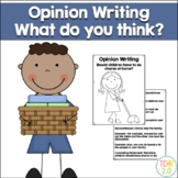 Opinion Writing Chores at Home