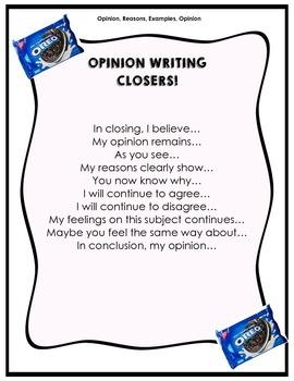 Opinion Writing Closings