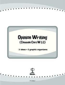 Opinion Writing (Common Core W.1.1)