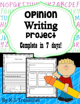 Opinion Writing: Complete Project in 7 Days!