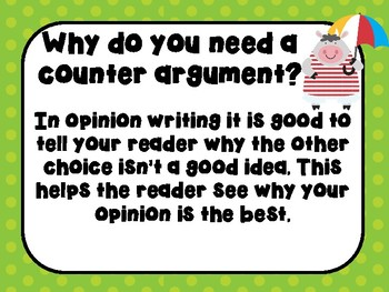 Opinion Writing: Counter Argument Powerpoint