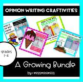 Opinion Writing Craftivity Bundle!